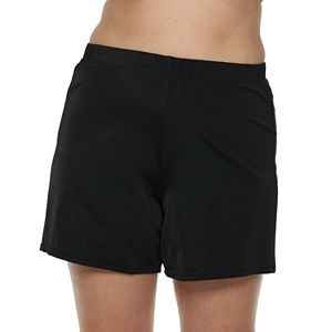 Plus Size A Shore Fit Cover-Up Swim Shorts