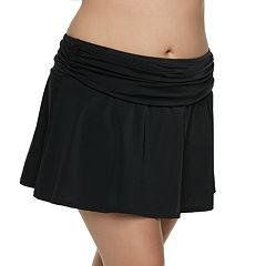 Plus Size A Shore Fit Hip Minimizer Cover-Up Skirt