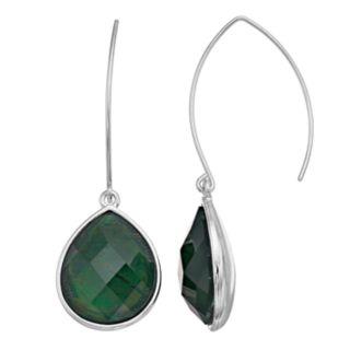 Dana Buchman Green Teardrop Threader Earrings