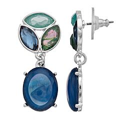 Dana Buchman Blue & Green Drop Earrings