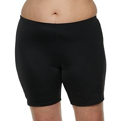 Plus Size A Shore Fit Hip Minimizer Bike Shorts