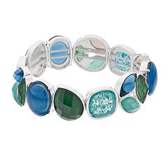 Dana Buchman Blue & Green Stretch Bracelet