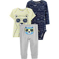 Baby Boy Carter's Bear Graphic Tee, Bodysuit & Pants Set
