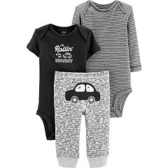 Baby Boy Carter's Car Graphic Bodysuit, Striped Bodysuit & Pants Set