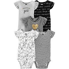 4f450d5a0 Baby Girl Carter s 5-pack Flutter-Sleeve Printed Bodysuits
