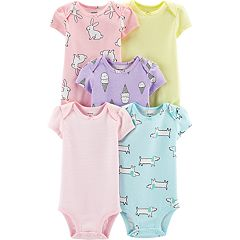 Baby Girl Carter's 5-pack Print & Striped Bodysuits