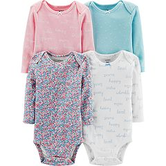 Baby Girl Carter's 4-pack Floral & Dot Bodysuits
