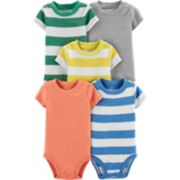 Baby Boy Carter's 5-pack Striped & Solid Bodysuits