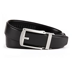 Men's Van Heusen Modern Flex Stretch Click to Fit Leather Belt
