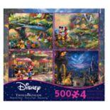 Disney Collection 500-piece Puzzle 4-piece Set by Ceaco