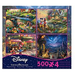 Disney Collection 500-piece Puzzle 4-piece Set by Ceaco