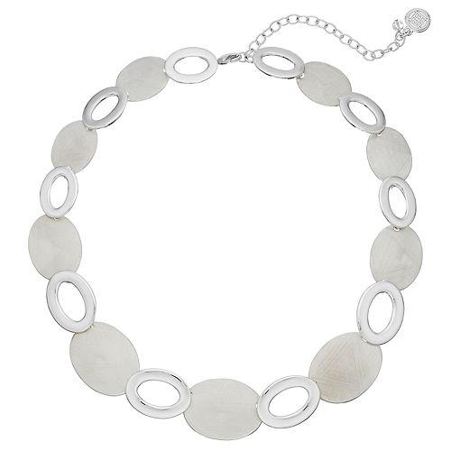Dana Buchman Silver Tone Disc Collar Necklace