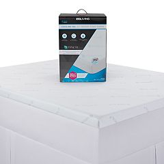 Lux Living 2.5-inch Cooling Memory Foam Mattress Topper