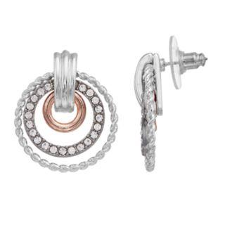 Dana Buchman Tri Tone Doorknocker Drop Earrings