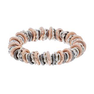 Dana Buchman Tri Tone Circle Stretch Bracelet