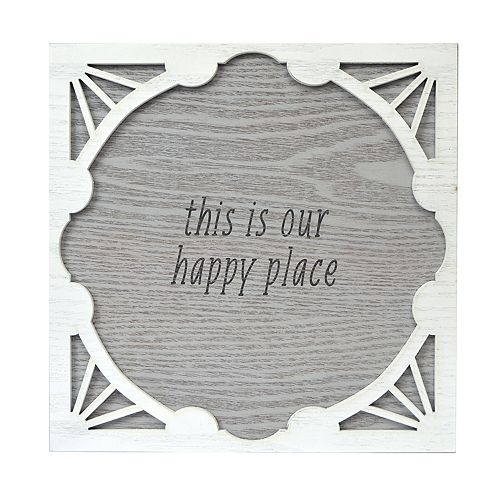 "New View ""Our Happy Place"" Wall Decor"
