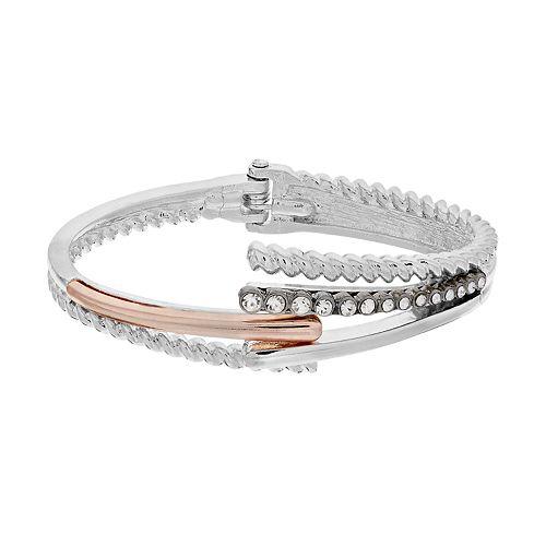 Dana Buchman Tri Tone Bypass Cuff Bracelet
