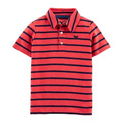 Baby Boy Carter's Striped Dog Applique Polo