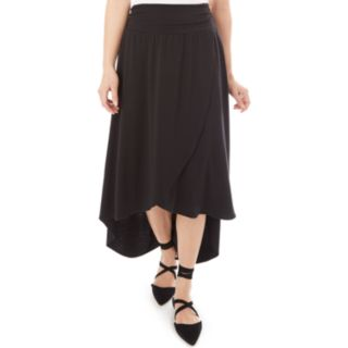 Juniors' IZ Byer Solid Wrap Maxi Skirt