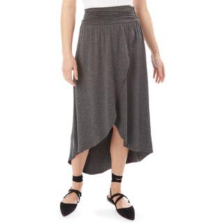 Juniors' IZ Byer Solid Wrap Maxi Skirt