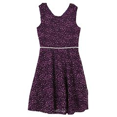 Girls 7-16 & Plus Size Speechless Allover Lace Sparkle Skater Dress