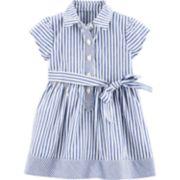 Baby Girl Carter's Striped Shirt Dress