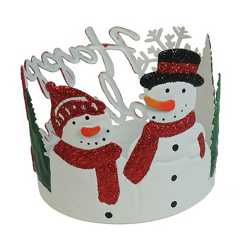 SONOMA Goods for Life™ Snowman Small Candle Jar Holder