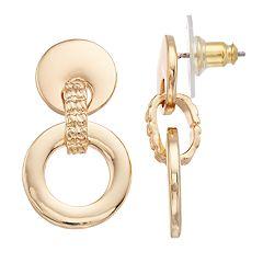 Dana Buchman Gold Tone Double Drop Earrings
