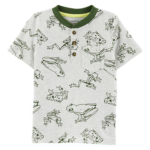Baby Boy Carter's Frog Henley Top