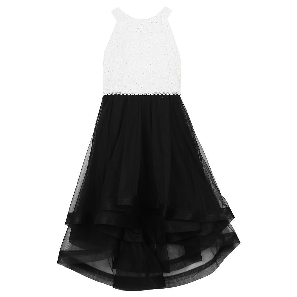 Girls 7-16 & Plus Size Speechless Rhinestone Bodice & Tulle Dress