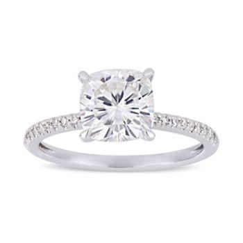 Stella Grace 2 ct. T.W. Lab-Created Moissanite & 1/10 ct. T.W. Diamond Cushion Engagement Ring