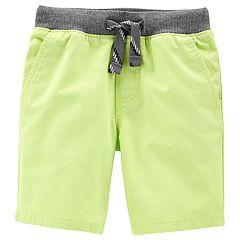 Baby Boy Carter's Yellow Dock Shorts