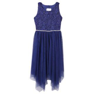 Girls 7-16 & Plus Size Speechless Lace & Tulle Sharkbite Dress