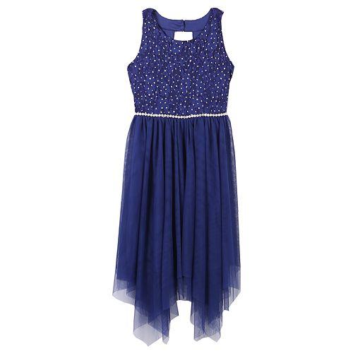 87197f3f061 Girls 7-16   Plus Size Speechless Lace   Tulle Sharkbite Dress