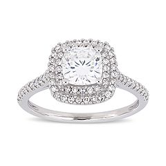Stella Grace 1 ct. T.W. Lab-Created Moissanite & 1/3 ct. T.W. Diamond Cushion Halo Engagement Ring