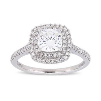 Stella Grace 1 ct. T.W. Lab-Created Moissanite & 1/3 ct. T.W. Diamond Cushion Halo Engagement Ring