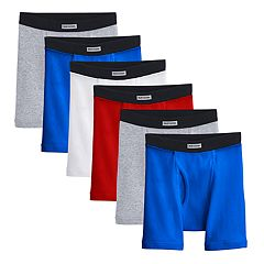 Boys 8-20 Fruit of The Loom Boxer Briefs 4-Pack + 2