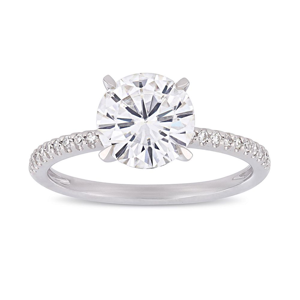 Stella Grace 2 ct. T.W. Lab-Created Moissanite & 1/10 ct. T.W. Diamond Engagement Ring