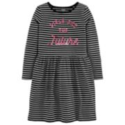 """Girls 4-14 Carter's """"Girls Are The Future"""" Striped Dress"""