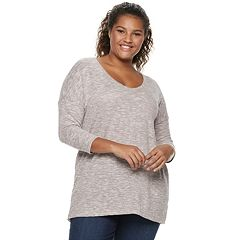 Juniors' Plus Size SO® 3/4-sleeve Tunic