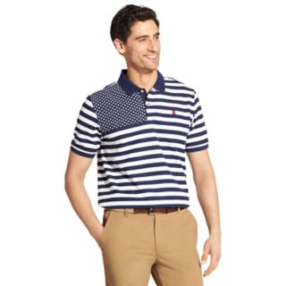 Men's IZOD Advantage SportFlex Classic-Fit Stars & Stripes Performance Polo