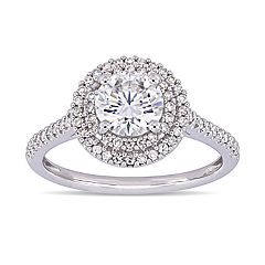 Stella Grace 1 ct. T.W. Lab-Created Moissanite & 1/3 ct. T.W. Diamond Double Halo Engagement Ring