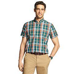 Men's IZOD Cool FX Breeze Classic-Fit Plaid Casual Button-Down Shirt