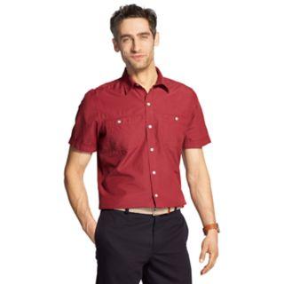 Men's IZOD Cool FX Breeze Classic-Fit Textured Woven Casual Button-Down Shirt