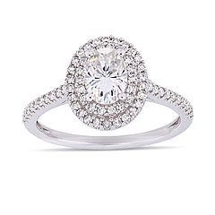 Stella Grace 1 ct. T.W. Lab-Created Moissanite & 1/3 ct. T.W. Diamond Oval Double Halo Engagement Ring