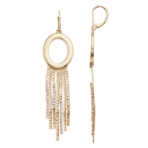 Dana Buchman Simulated Crystal Fringe Drop Earrings