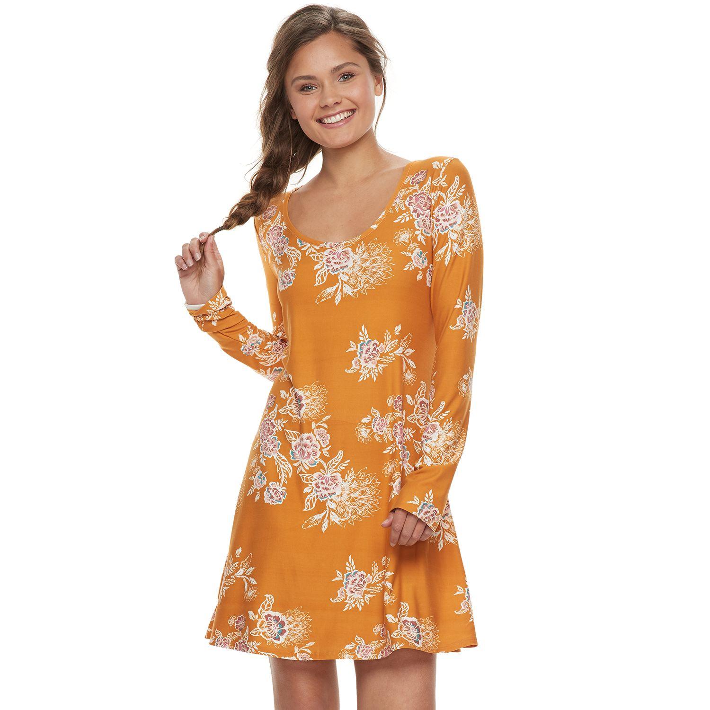 Orange Floral Dresses