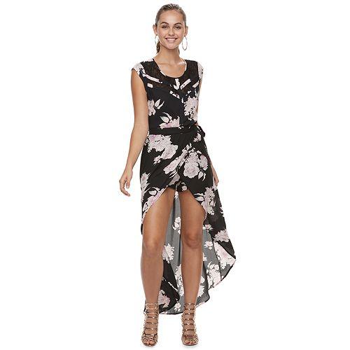 Juniors' Candie's® Floral Walk Through Maxi Skirt