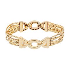 Dana Buchman Simulated Crystal Chain Stretch Bracelet