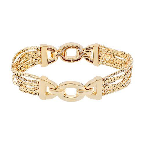 Dana Buchman Simulated Crystal Chain Stretch Bracelet